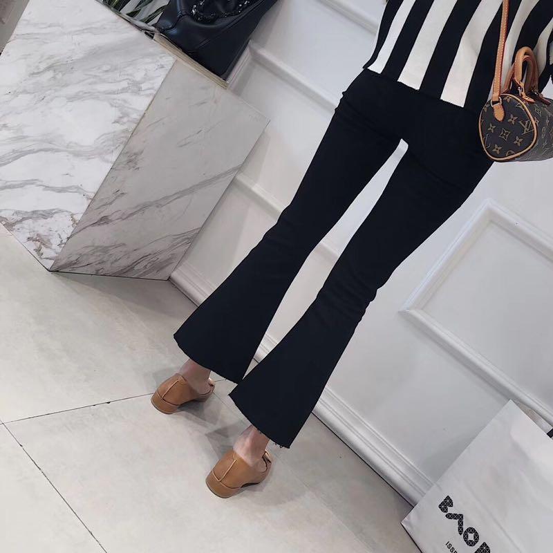 小黑裤喇叭裤高弹性百搭,SMLXL四码