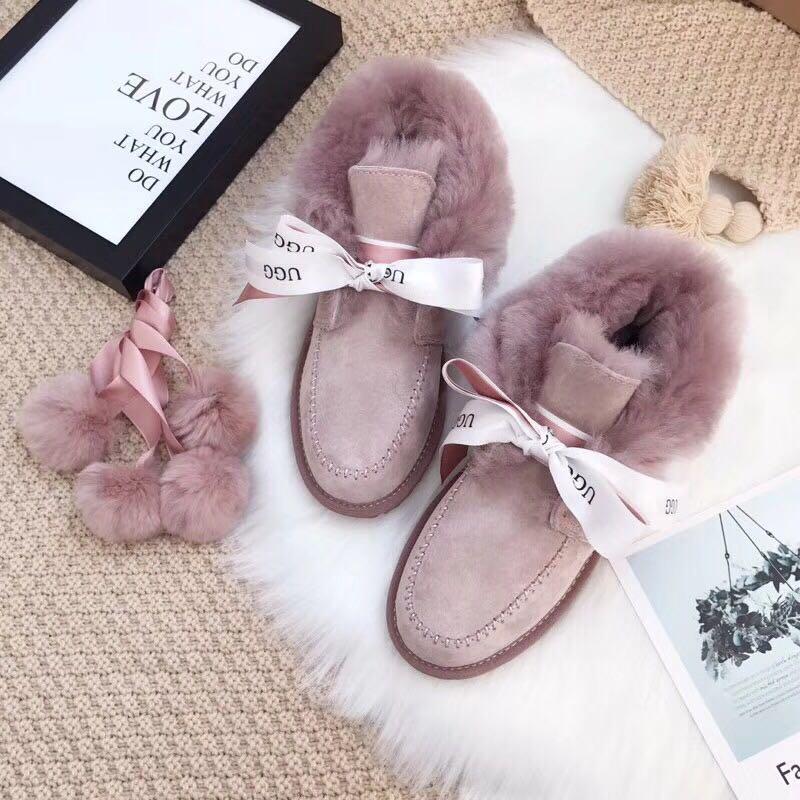 凯琳丝带雪地靴高端精工细作加厚保暖女士鞋