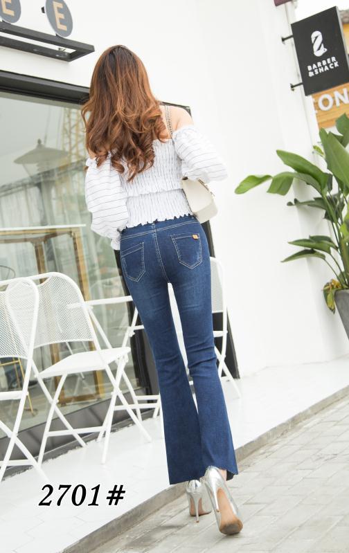 2019春季新款2701裤牛仔微喇女裤显瘦款