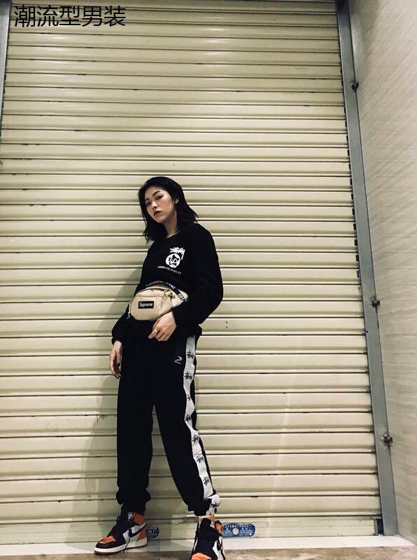 stussy新款长裤男斯图西欧美街头潮牌休闲长裤男女情侣装flam隐蔽者