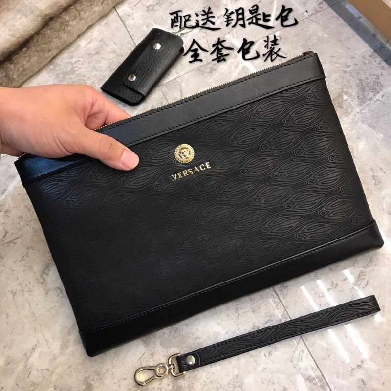 原单品质休闲男士牛皮手拿包 多卡位大容量钱包时尚百搭信封包手抓包