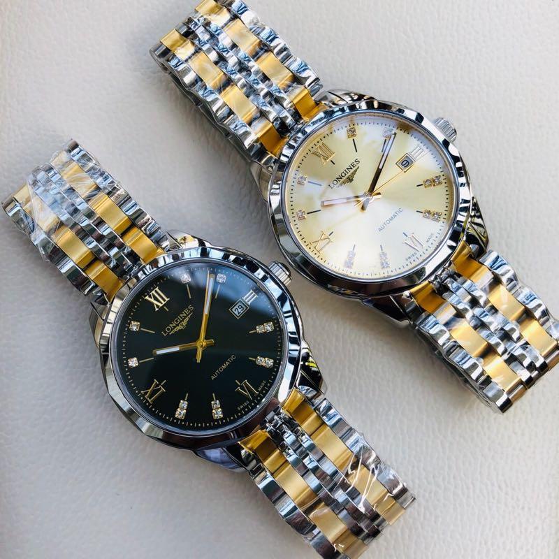 新款博雅商务男士自动机械手表 西铁城8215机芯316精钢表带 休闲领域高档腕表