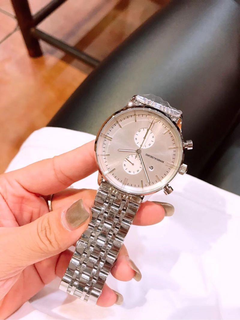 精品商务休闲男士电子手表 搭配瑞士机芯精钢表带多功能os指针男款腕表