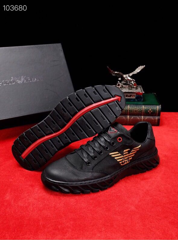 新款潮流男士牛皮休闲鞋 原版橡胶大底羊皮内里套脚时尚百搭款男鞋运动鞋