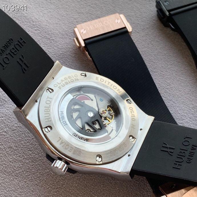 新款商务休闲绅士风格自动机械机芯手表 搭配西铁城8215机芯橡胶表带男士腕表
