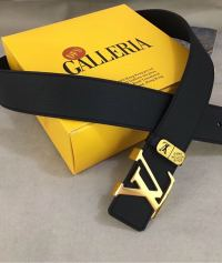 新款商务休闲男士牛皮平滑扣皮带 搭配精致钢扣时尚百搭款男腰带