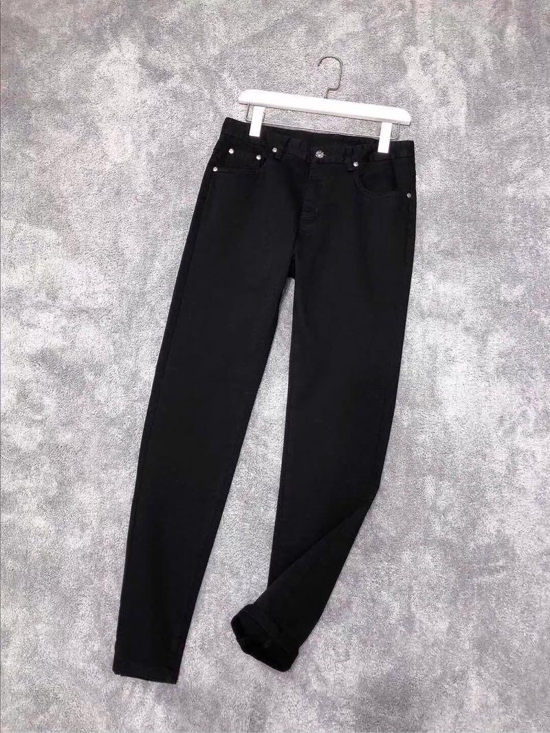 原单高端品质 时装欧美时尚大牌 新款牛仔裤 丹宁棉料 青少年男士日常休闲修身长裤子