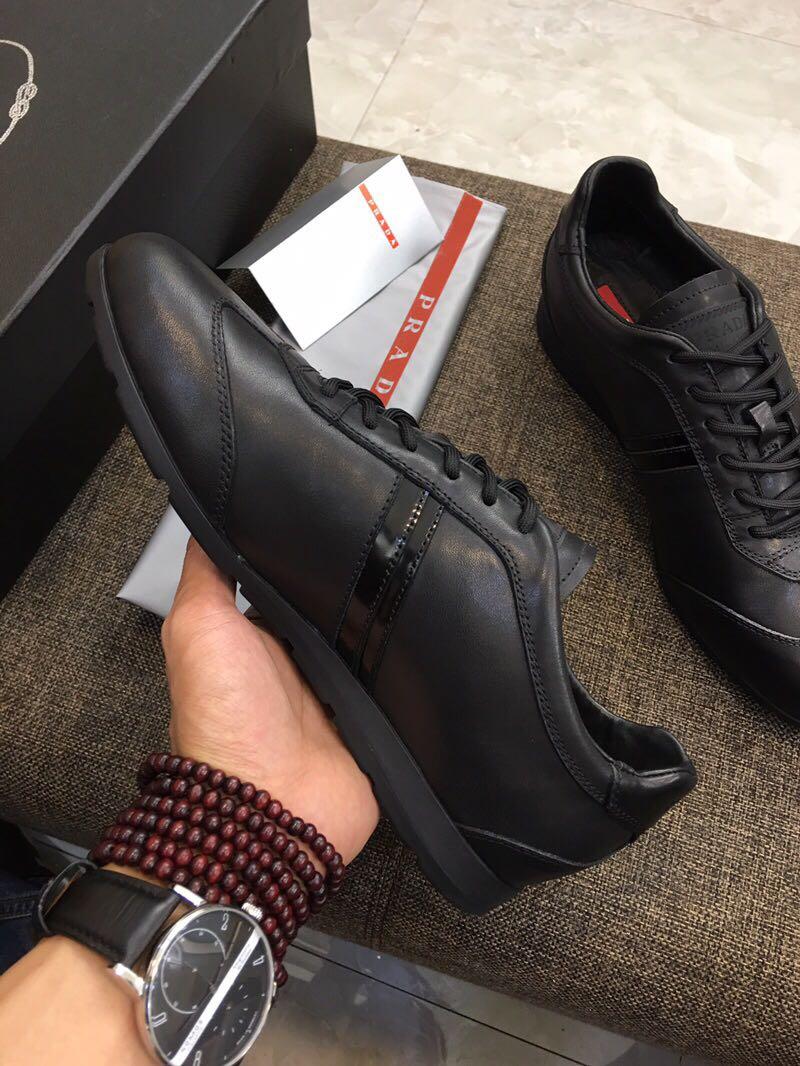 独家高端 原单欧美大牌官网专柜 时尚休闲鞋头层小牛皮男士系带低帮男鞋真皮板鞋运动鞋