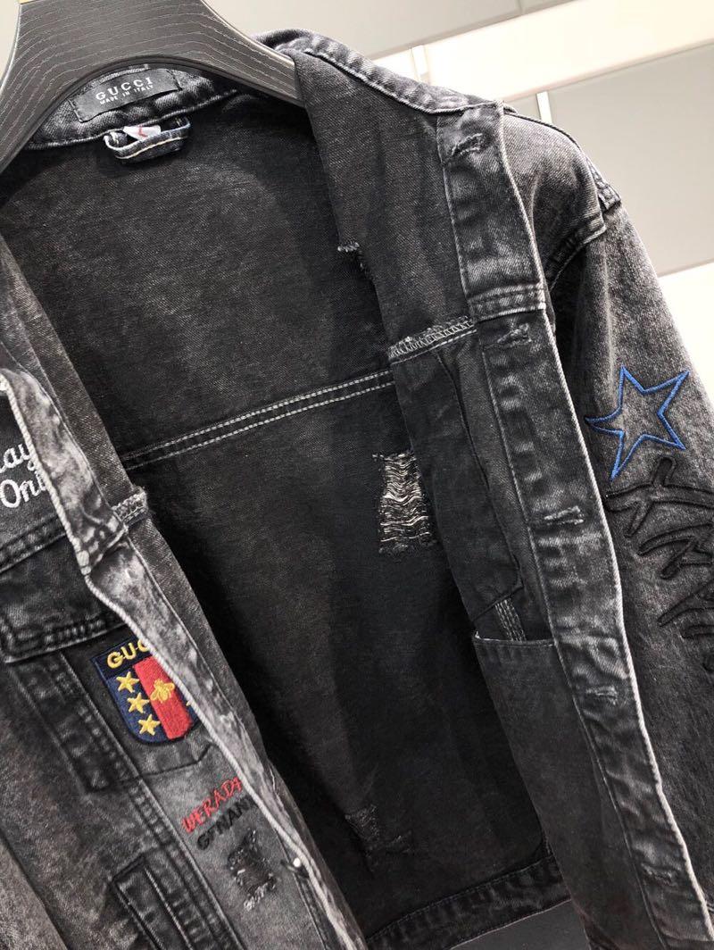 原单外贸 官网专柜新款 欧美大牌 秋冬时尚新款 进口修身牛仔面料帅气百搭牛仔外套