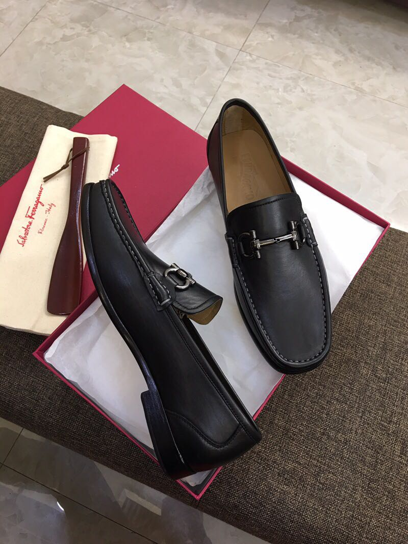 海外原单 欧美大牌专柜新款 青年男士头层小牛皮商务休闲低跟单鞋男鞋真皮皮鞋