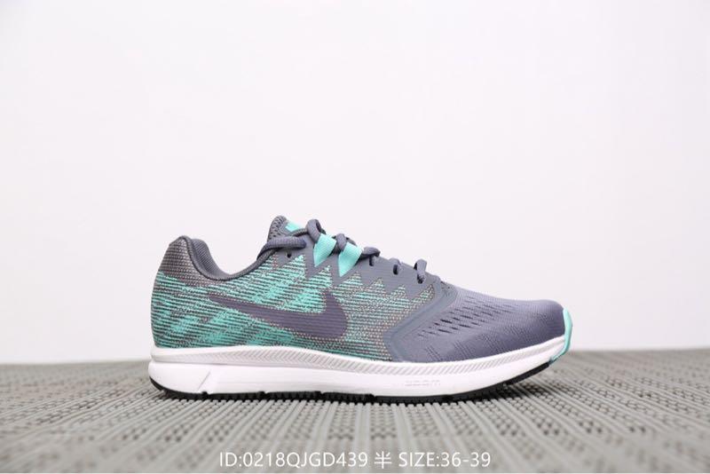 2019春夏新款运动鞋Nik e Zoom Span 2 带半码 登月女款网面透气休闲慢跑鞋灰色女式