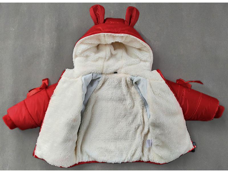 女寶寶棉衣女童棉襖兒童棉服加絨加厚小童外套紅色衣服