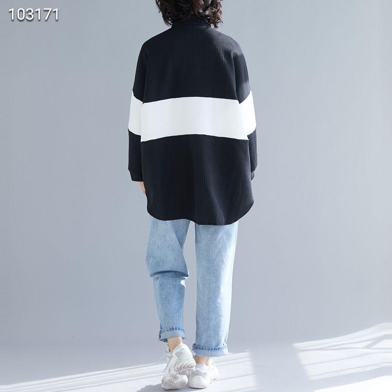 2019新款文艺大码女装撞色拼接夹丝棉衬衫女中长款衬衣外套