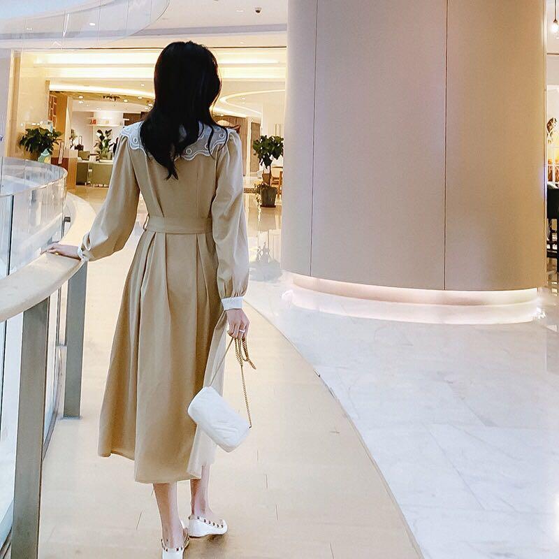 早春新款 修身显瘦系带气质连衣裙