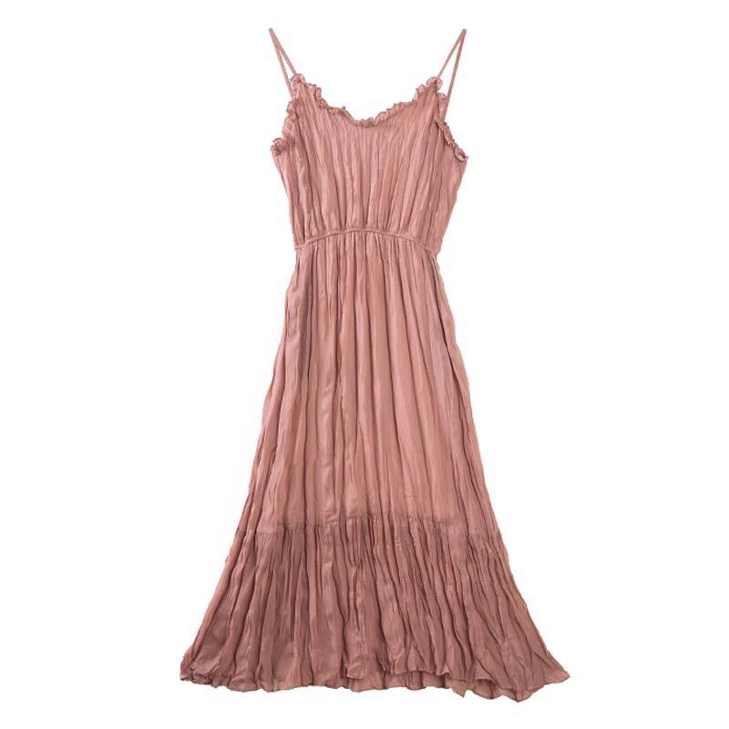 海边度假泰国海南三亚超仙显瘦大码两件套连衣裙