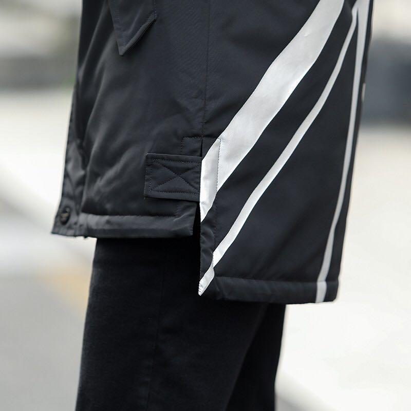LX016潮牌BOY伦敦男孩专柜棉衣老鹰冬季男装外加厚羽绒棉服宽松中长款保暖连帽大码